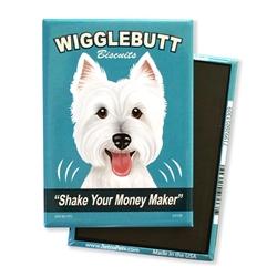 Westie - Wigglebutt Westie MAGNETS