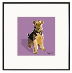 Framed Print: Airedale Terrier Sitting