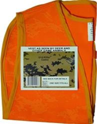 Atsko Sno-Seal UV Killer Camo Blaze Orange Vest