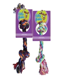"Sergeant's Crazy Paws Rope Tug Dog Toy 17"" - Assorted Colors"