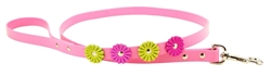 Flower Leashes - Pink or Tan
