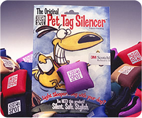 24 Assorted Quiet Spot Dog Tag Silencers
