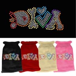 Technicolor Diva Rhinestone Knit Pet