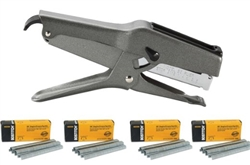 Stanley Bostitch B8 Heavy Duty Plier Stapler (Gray) with 4 Boxes of 1/4""