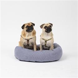 Engineer Stripe Round Snuggler Dog Bed