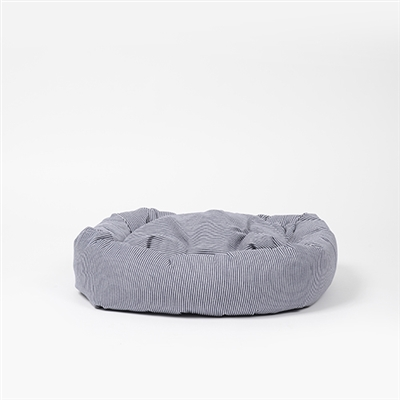 Engineer Stripe Round Snuggler Dog Bed