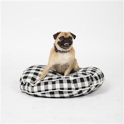 Buffalo Plaid Circle Dog Bed