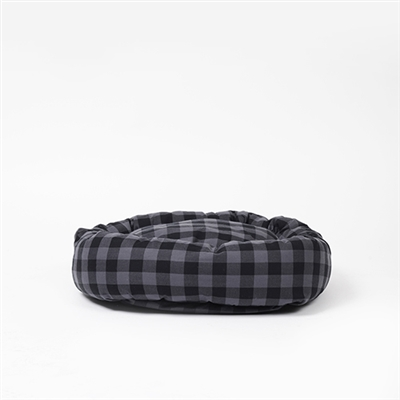Buffalo Plaid Round Snuggler Dog Bed