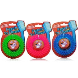 Fetch 'n Floss Ring Dog Toy (assorted colors)