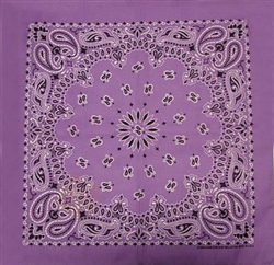 Grooming Salon Bandanas 12 Pack - Lavender Paisley