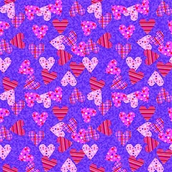 Grooming Salon Bandanas 12 Pack - Plaid Polka Dot Hearts