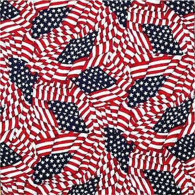 Grooming Salon Bandanas 12 Pack - Tossed American Flag