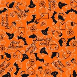 Grooming Salon Bandanas 12 Pack - Happy Halloween