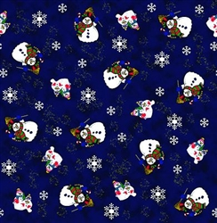 Grooming Salon Bandanas 12 Pack - Snowmen