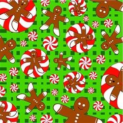 Grooming Salon Bandanas 12 Pack - Gingerbread Men