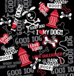 Grooming Salon Bandanas 12 Pack - Bark, Woof, Woof