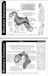 Laminated Grooming Reference Charts - Set of 8