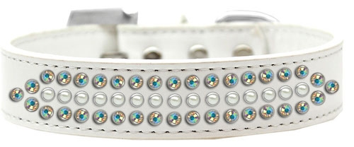 Ritz Pearl and AB Crystal Dog Collar