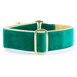 Holiday Emerald Velvet Satin Lined Collars & Leads