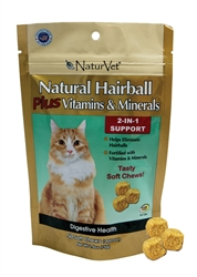 Hairball Plus Vitamin 2-in-1 CAT Soft Chew - 50 Chews  (Bag)