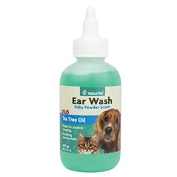 Ear Wash w/Tea Tree Oil (Aloe & Baby Powder scent) - 4 oz