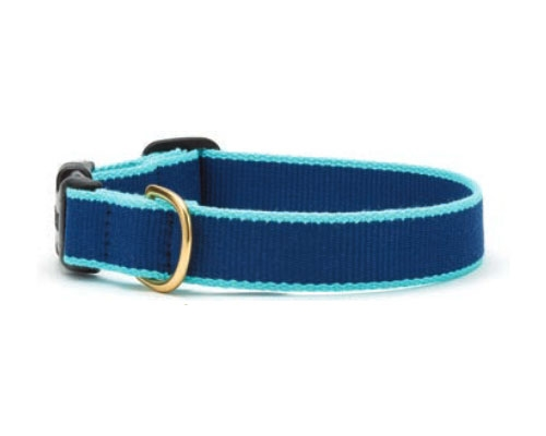 Navy and Aqua - Green Market Collection Collars & Leads