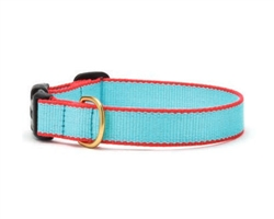 Aqua and Coral - Green Market Collection Collars & Leads