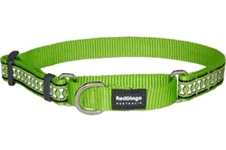 Lime Green Reflective Bone - Martingale Collar