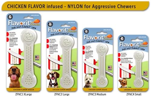 Small CHICKEN Flavorit Bone Nylon Chew