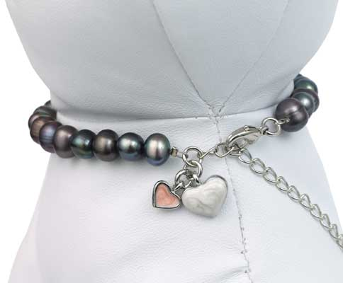 Black Pearl Pet Necklace