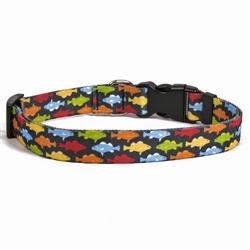 Rainbow Fish Black iDesign Collection Collar