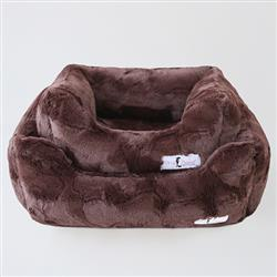 Luxe Dog Bed: Chocolate