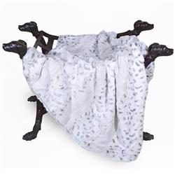 Deluxe Dog Blanket: Pearl Leopard