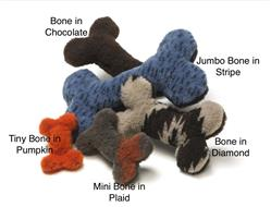 Bone Plush Dog Toy