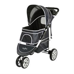 Gen7Pets® Monaco Black Geometric Pet Stroller