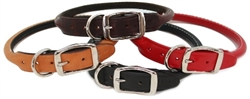 Rolled aka Round Leather Dog Collars
