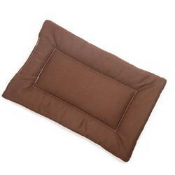 Brown Denim Fabric Flat Pet Bed