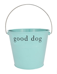 "Aqua ""Good Dog"" Bucket"