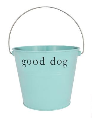"""Aqua """"Good Dog"""" Bucket"""