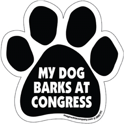 My Dog Barks at Congress Magnet