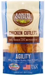 Earth Animal Agility Chicken Jerky Dog Treats, 8 Ounces