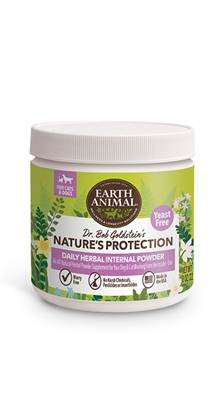 Earth Animal Flea and Tick Program Daily Internal Powder For Dogs 8oz Yeast Free