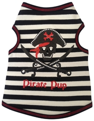 Pirate Pup Boy - Tank - Black/White Striped