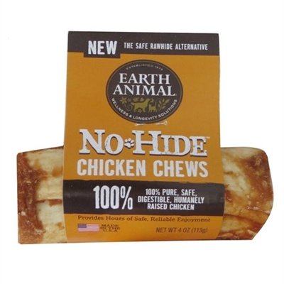 "Earth Animal No Hide Chicken Chews Dog Treats, 4"" (24 counter box REFILL)"