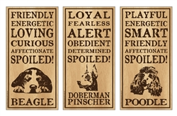 """Spoiled!"" - Wooden Signs 10"" x 5"""