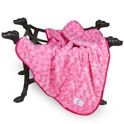 Rosebud Dog Blanket: Fuchsia