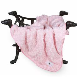 Rosebud Dog Blanket: Baby Pink