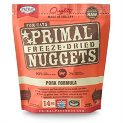 Primal Pet Foods Freeze Dried Cat Food Pork Formula