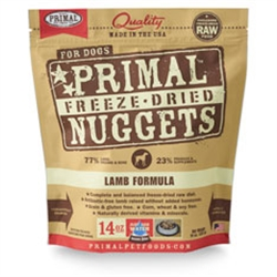 Primal Pet Foods Freeze Dried Food For Dogs 5.5oz - Lamb