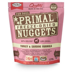 Primal Pet Foods Freeze Dried Food For Dogs  Turkey Sardine